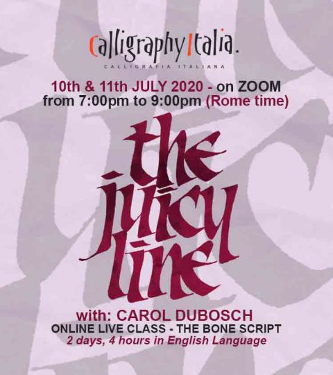 THE JUICY LINE – Bone Script – Online Live Class With Carol DuBosch