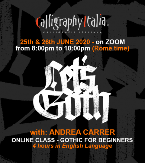 LET'S GOTH! – Blackletters Online Class With Andrea Carrer